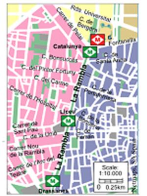 Mapa de los Metros