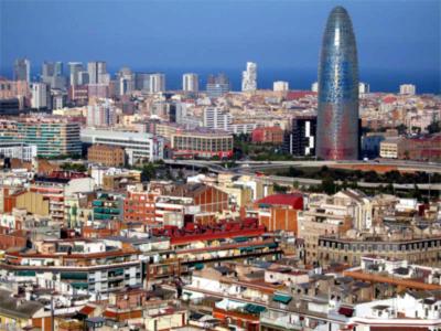 Vista Aerea de Barcelona Foto
