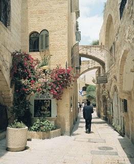Calles de Jerusalem Foto