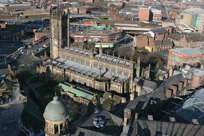 Vista aerea de Manchester Foto