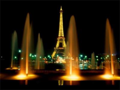 Torre Eiffel de noche Foto