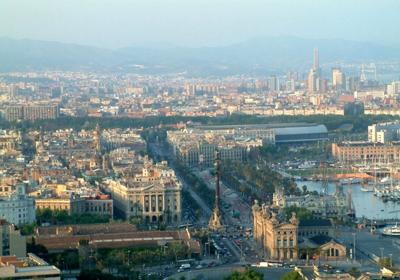 Vista Panoramica de Barcelona Foto